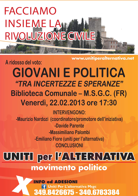 20130219 Incontro Politico Febbraio 2013